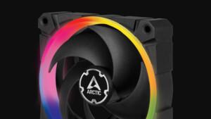Arctic BioniX P120 A-RGB: ARGB-Lüfter ist auf statischen Druck optimiert