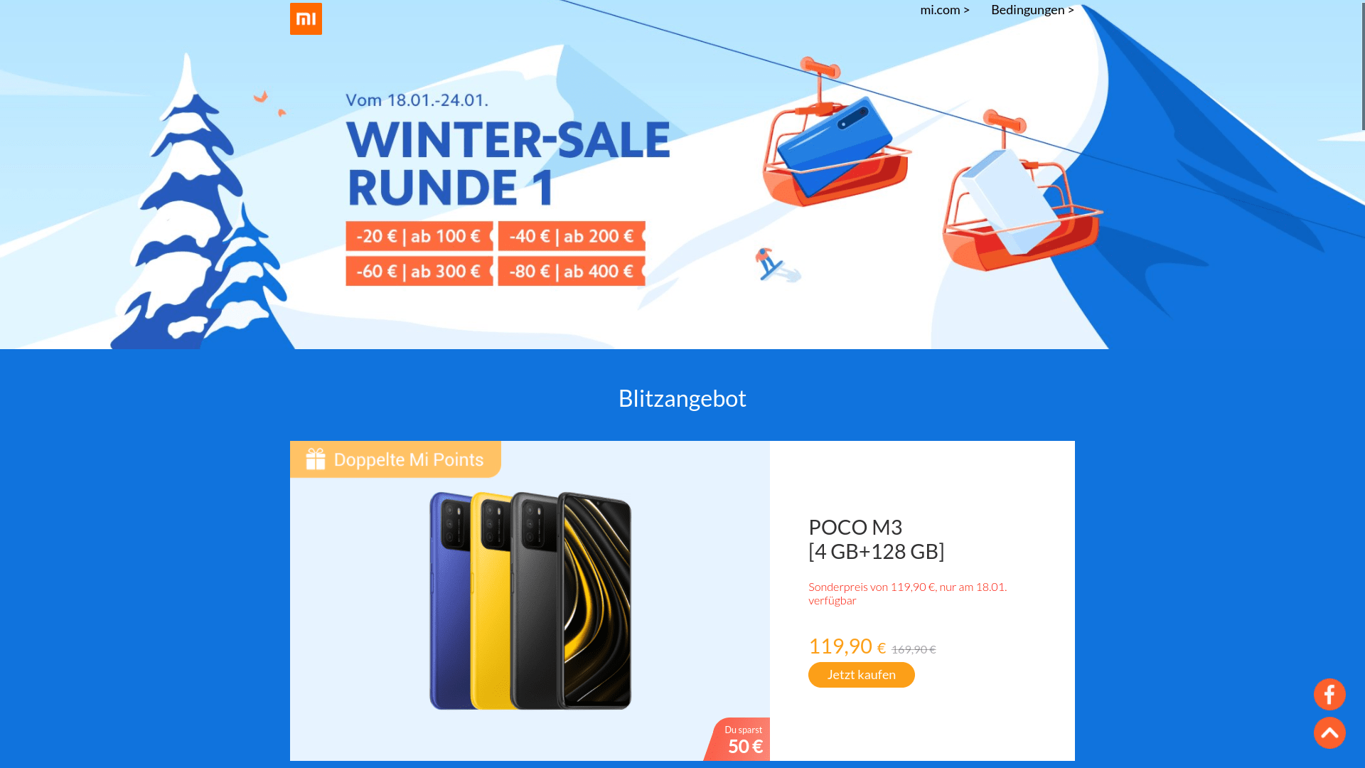 Xiaomi Winter Sale 2021 – Runde 1