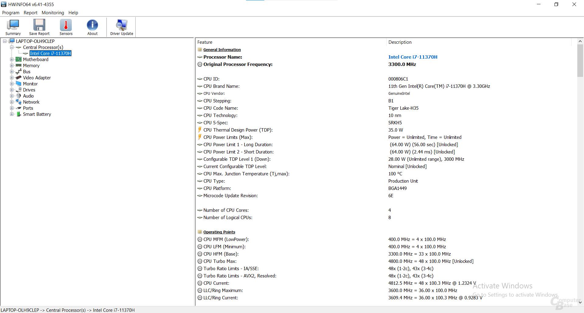 Intel Core i7-11370H im Asus TUF Dash 15