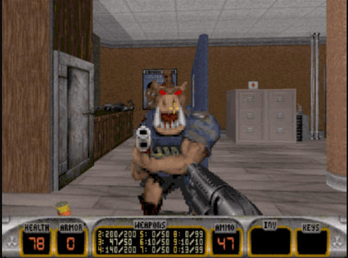...und Pig Cops in Duke Nukem 3D.