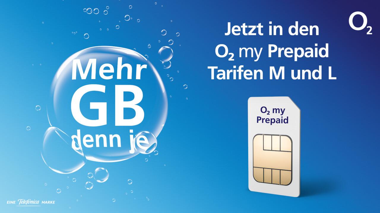 O2 Prepaid: Mehr LTE-Datenvolumen in großen Tarifen ab Februar