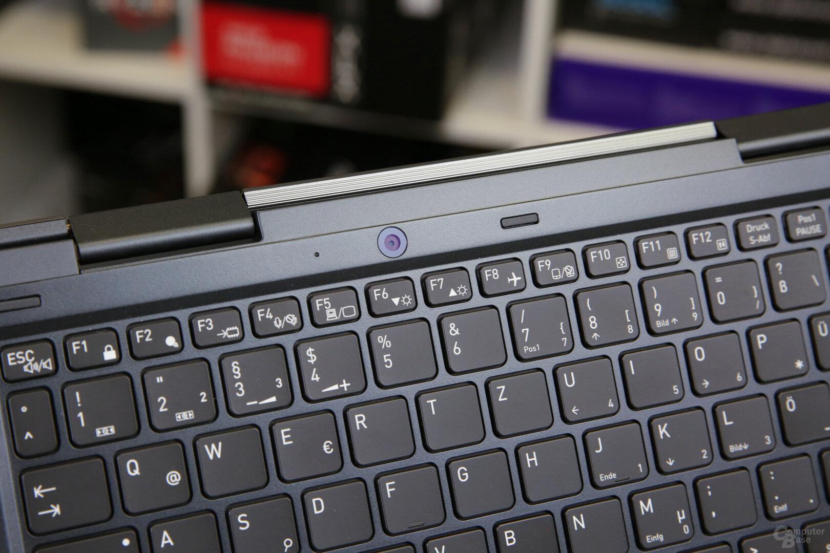 Rückseitige Kamera im Tablet-Modus