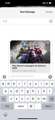 Spiele-URLs lassen sich über Messenger un Soziale Netzwerke teilen