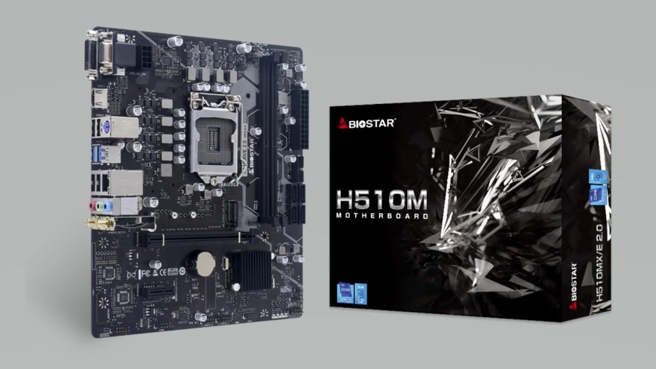 H510MH/E und H510MX/E: H510-Platinen von Biostar in mATX setzen auf Intel-LAN