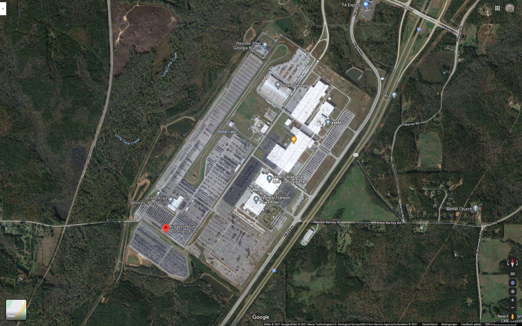 Kia West Point Assembly Plant in Georgia