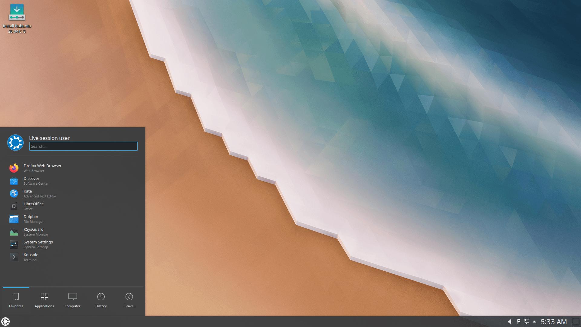 Kubuntu 20.4.2 LTS mit KDE Plasma 5.18 LTS