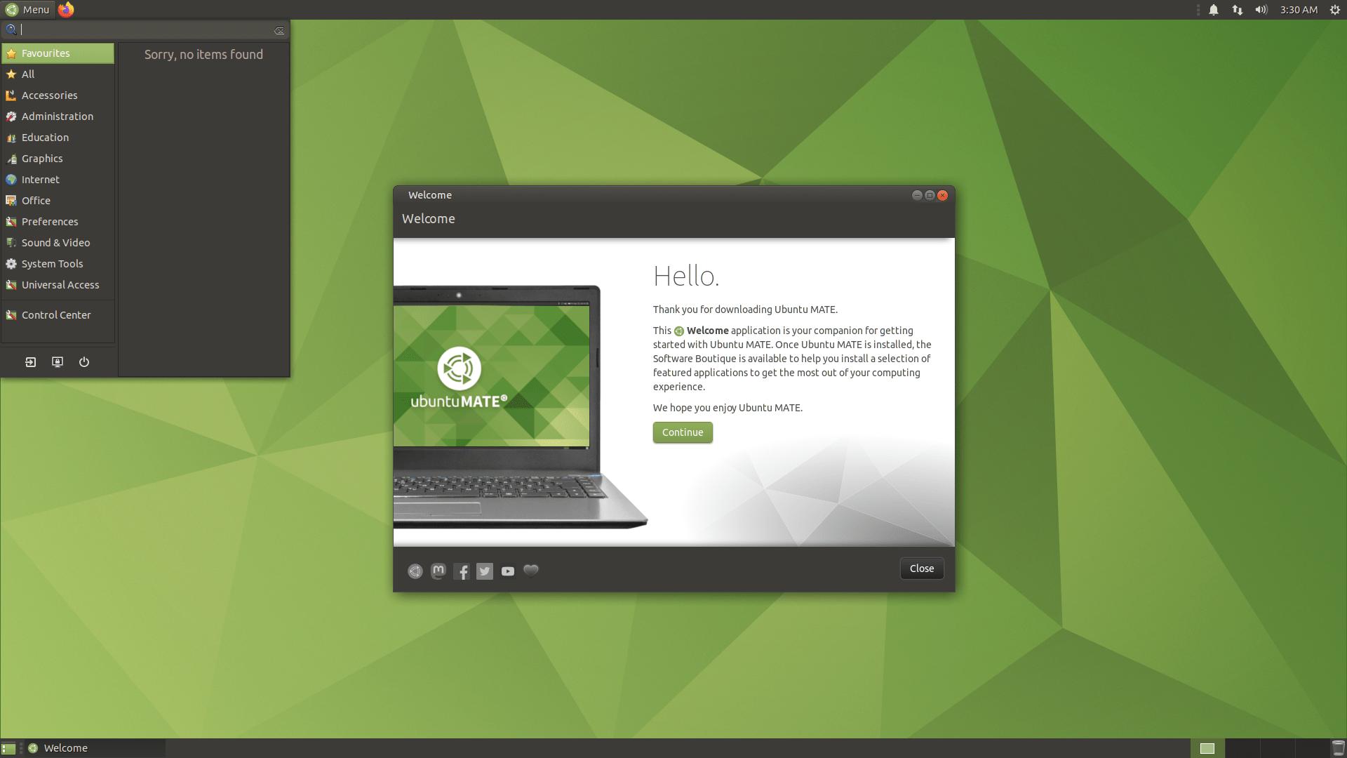 Ubuntu MATE 20.4.2 LTS mit MATE 1.24