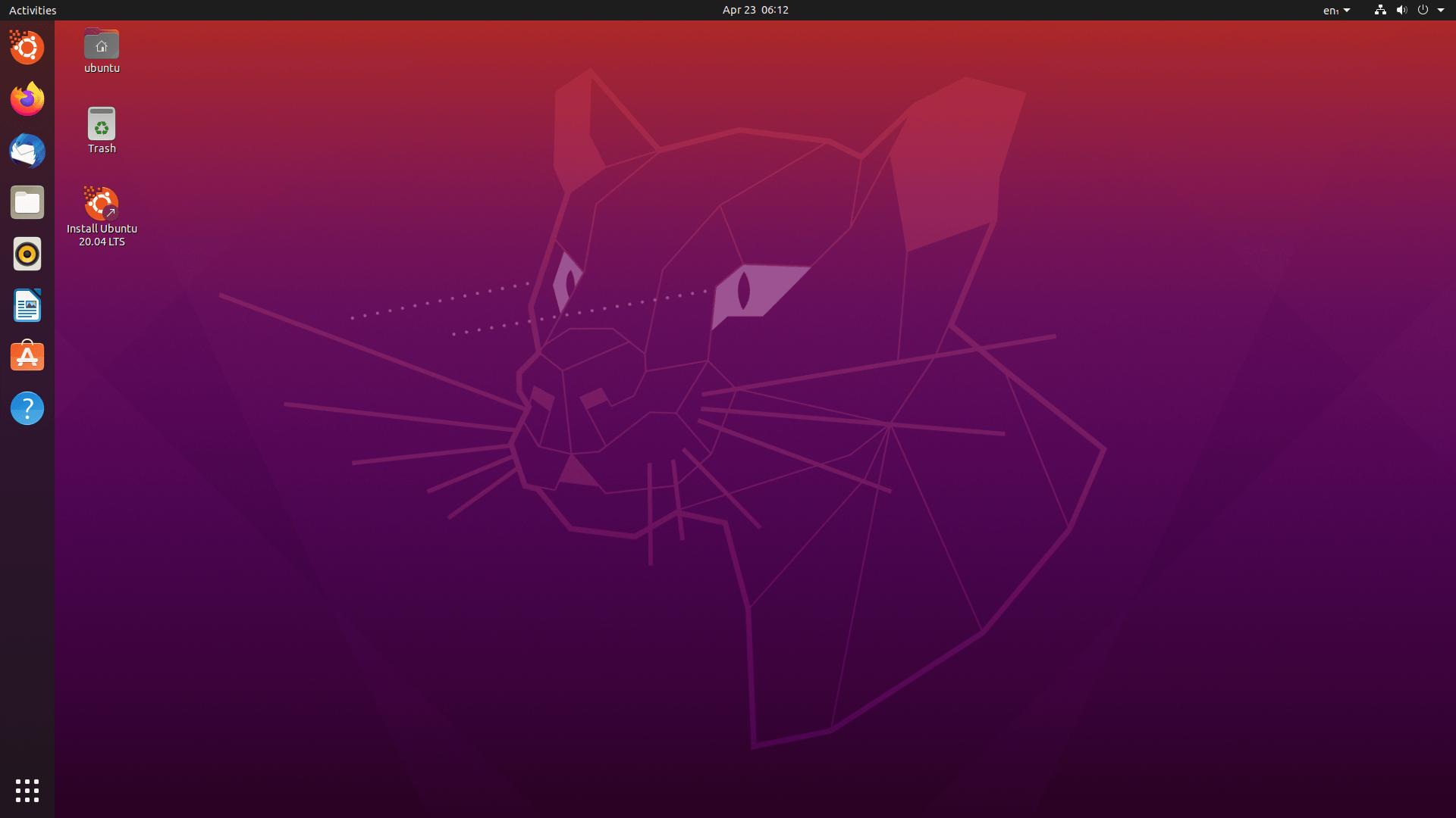 Ubuntu 20.4.2 LTS mit Gnome 3.36