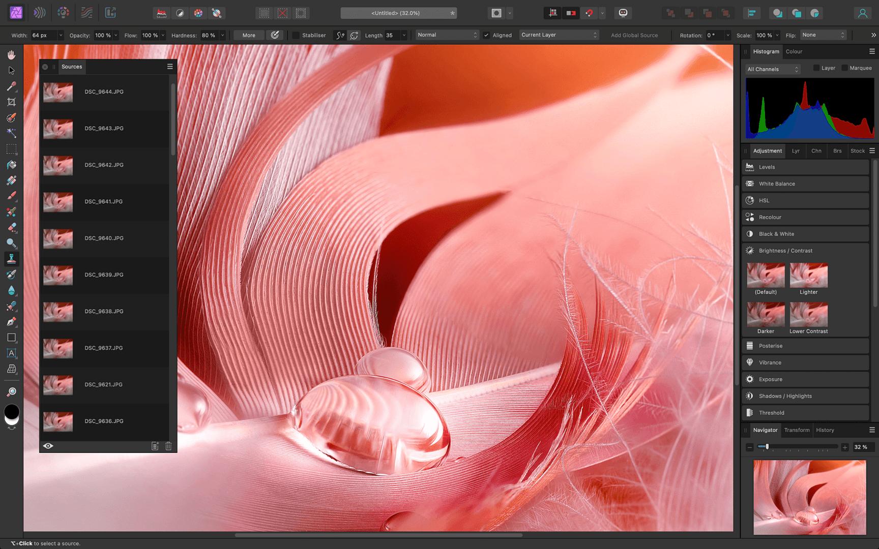 Affinity Photo – Fokuskombination (Focus Stacking)