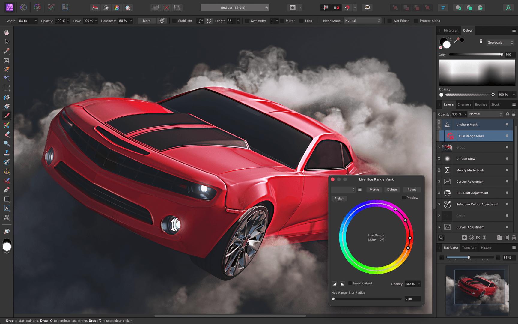 Affinity Photo – Unterstützung für Ebenen und Smartobjekte