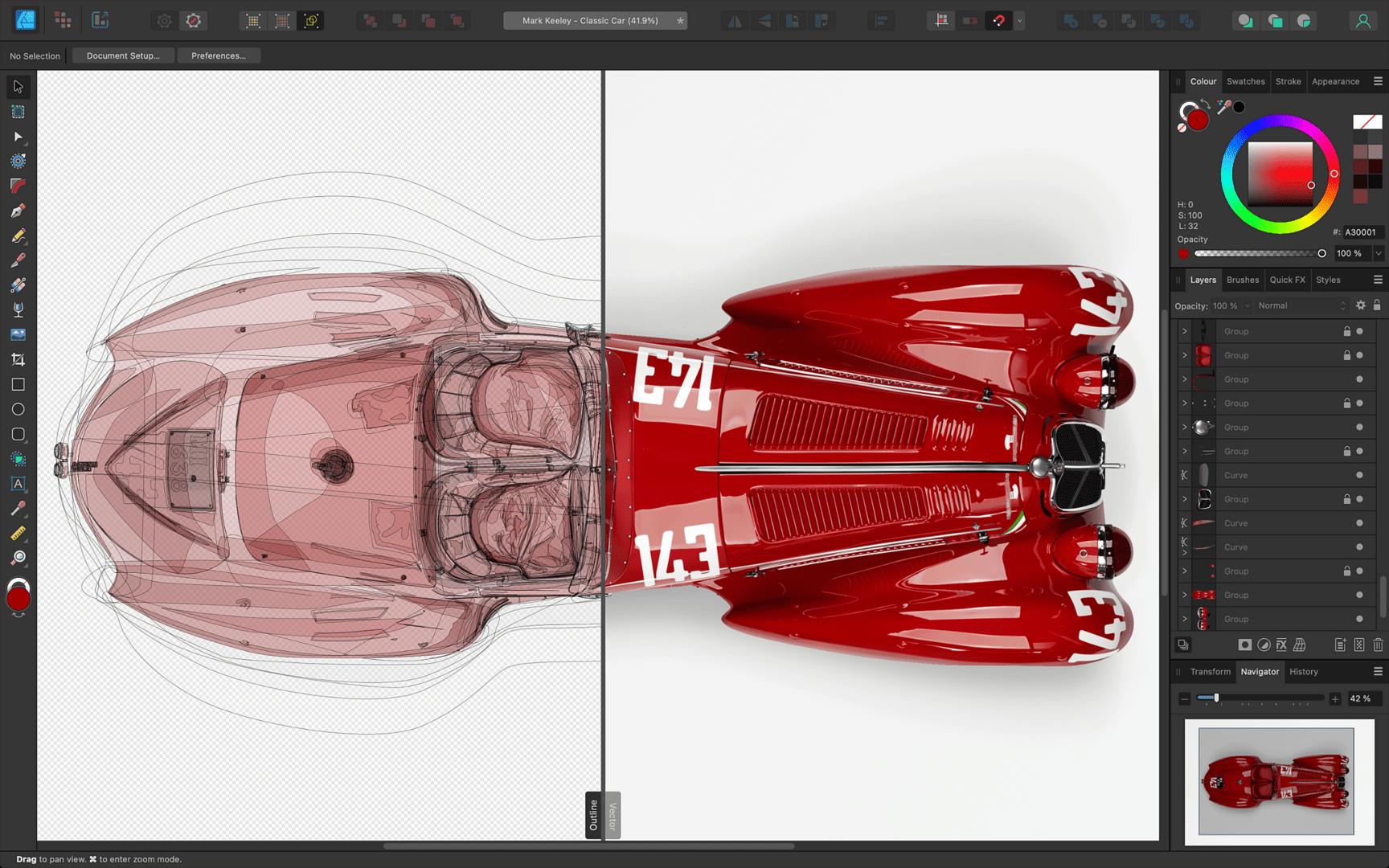 Affinity Designer – Umrandung