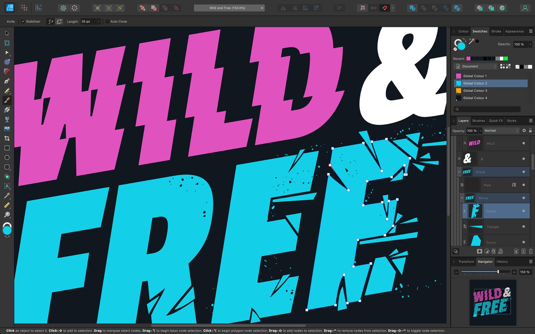 Affinity Designer – Pixelvorschau in Echtzeit