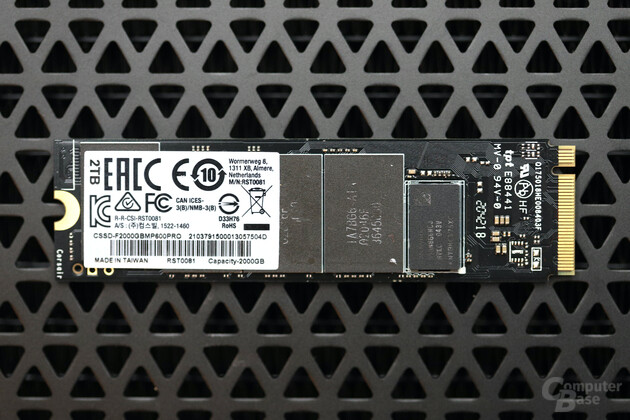 The circuit board of the Corsair MP600 Pro 2 TB