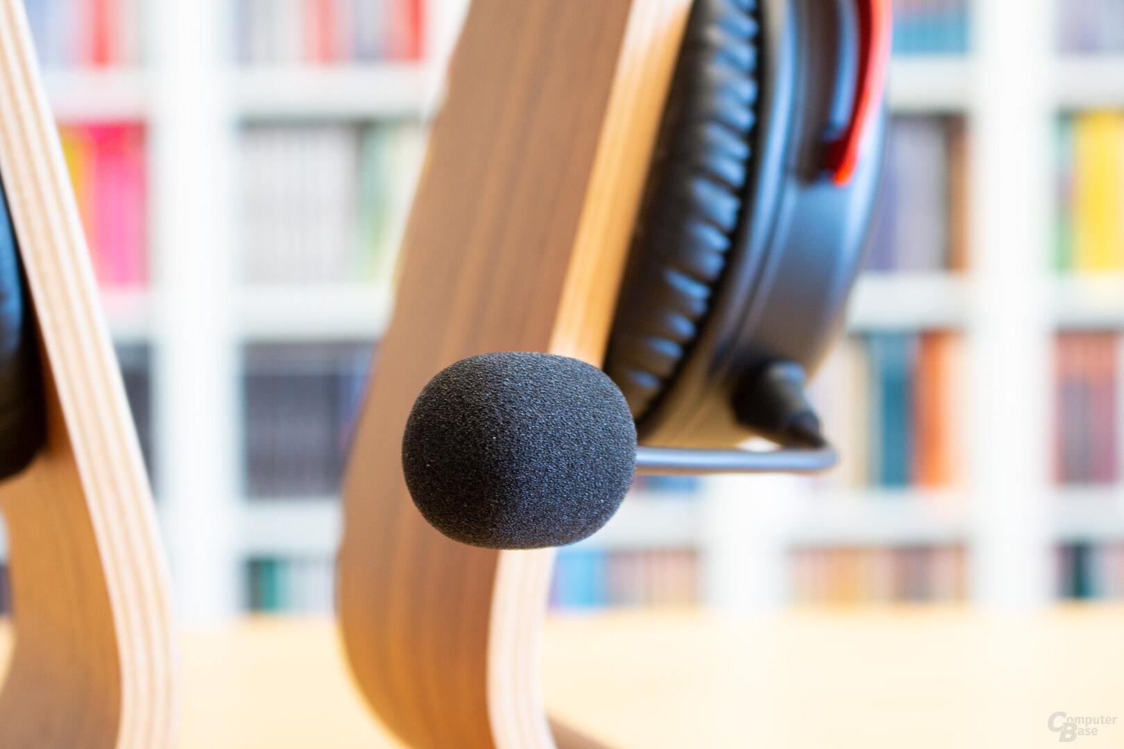 Das Mikrofon des HyperX Cloud II – endlich mit Pop-Schutz