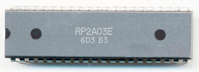 Der Ricoh 2A03 Hauptprozessor des NES mit 1,77 MHz