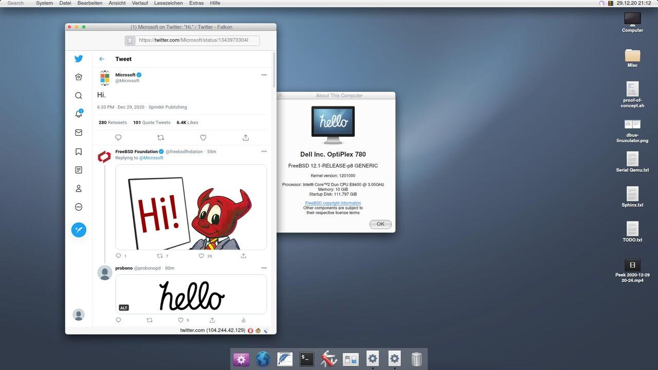 helloSystem: FreeBSD-Derivat bringt klassisches macOS zurück