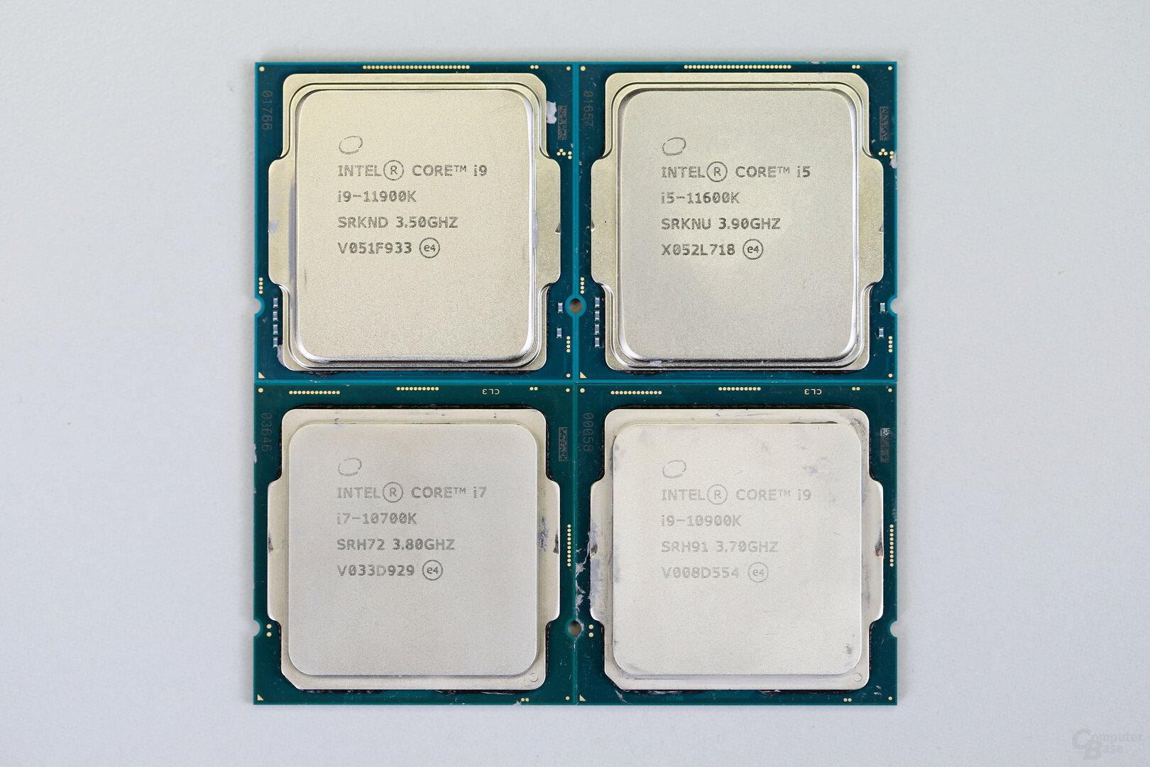 Intel Core i9-11900K und i5-11600K mit maximal acht Kernen im Vergleich zu Vorgängern mit bis zu 10 Kernen