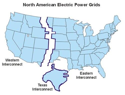 Stromversorgung in den USA