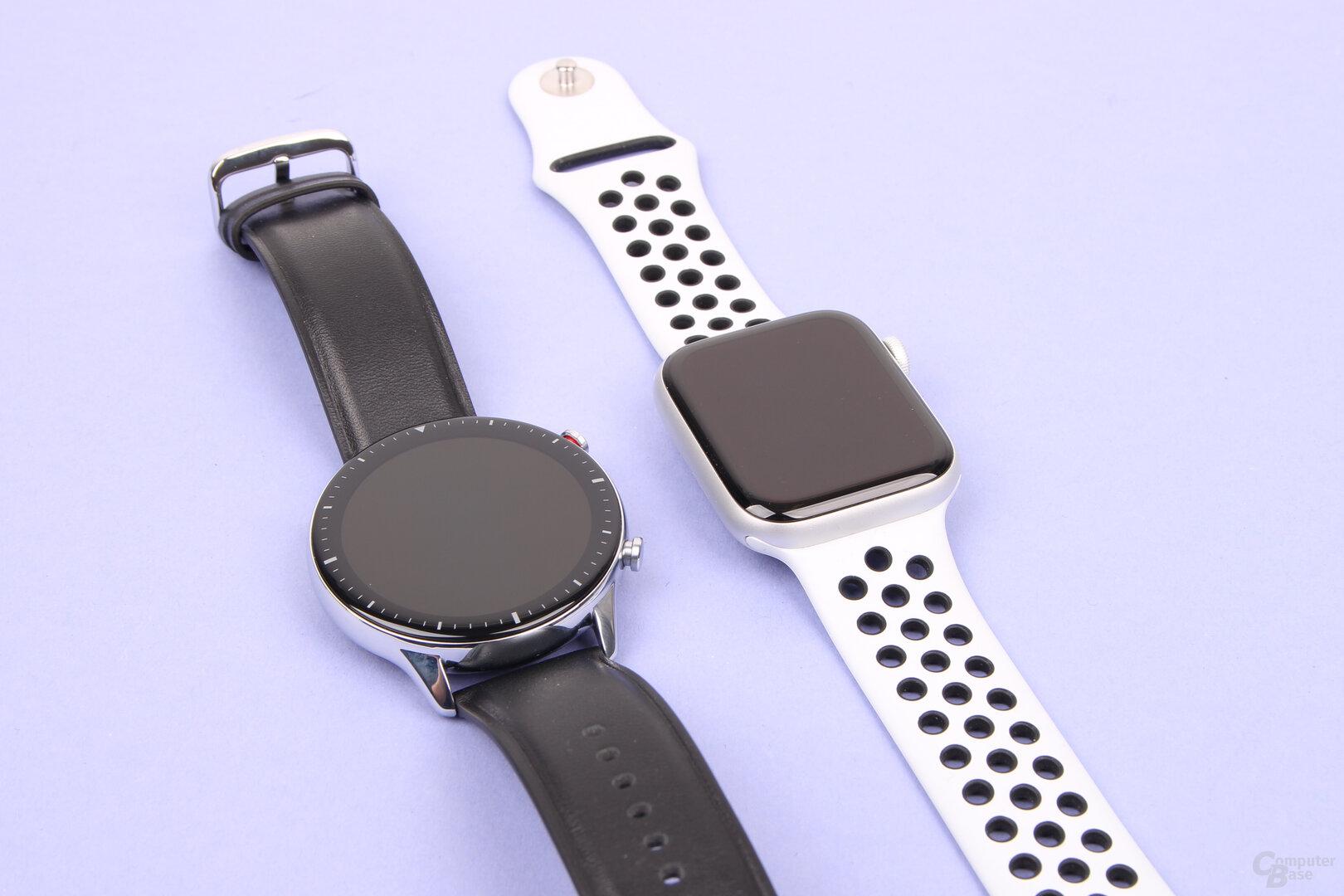 Amazfit GTR 2 und Apple Watch 6