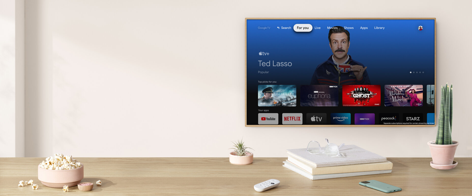 Apple TV+ auf dem Chromecast mit Google TV
