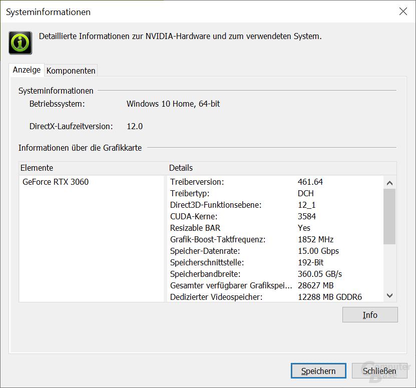 Resizable BAR auf der GeForce RTX 3060