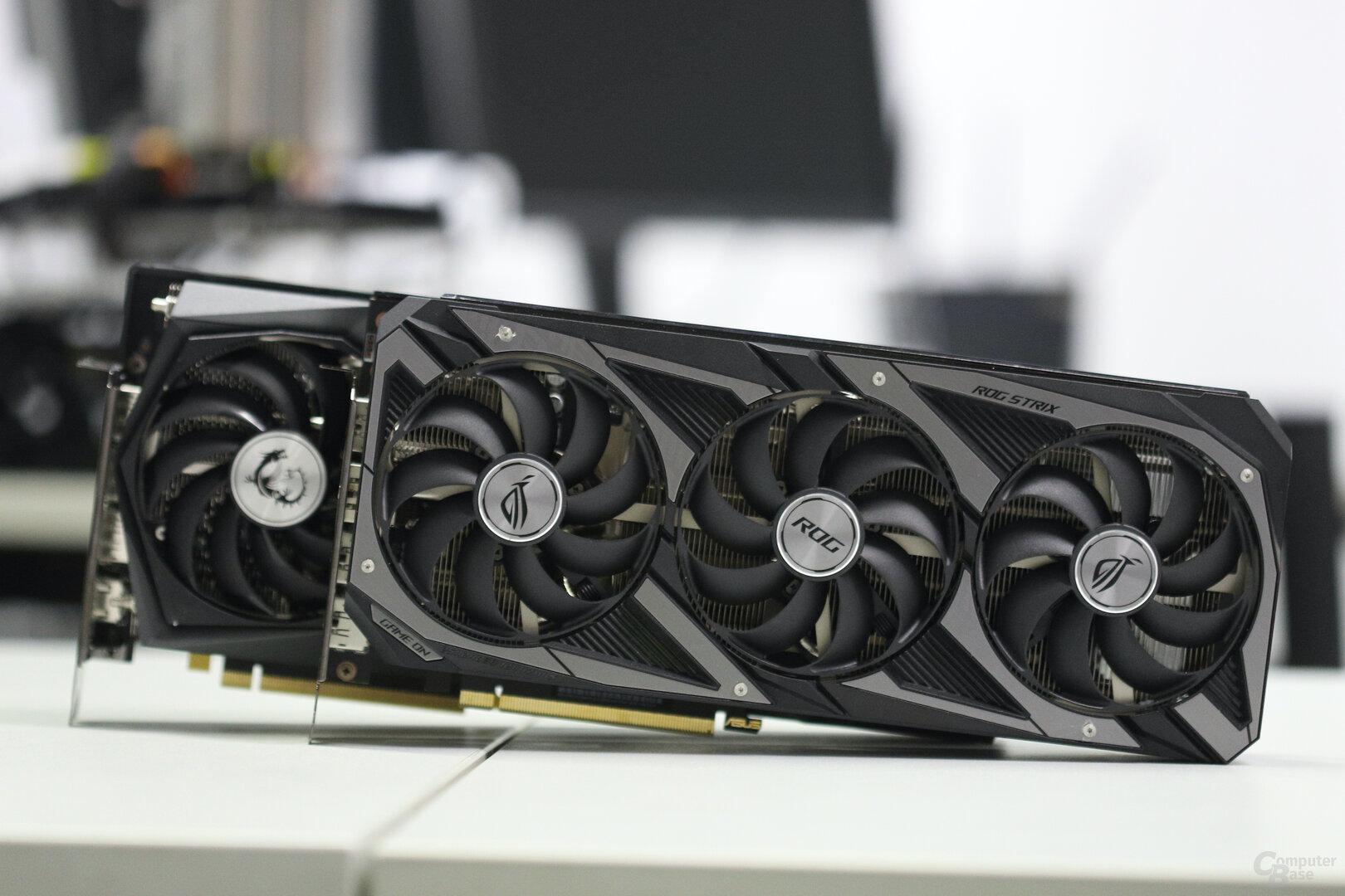 GeForce RTX 3060 von Asus und MSI im Test