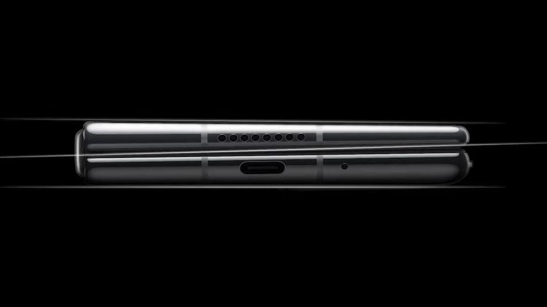 Huawei Mate X2 mit zwei keilförmigen Hälften