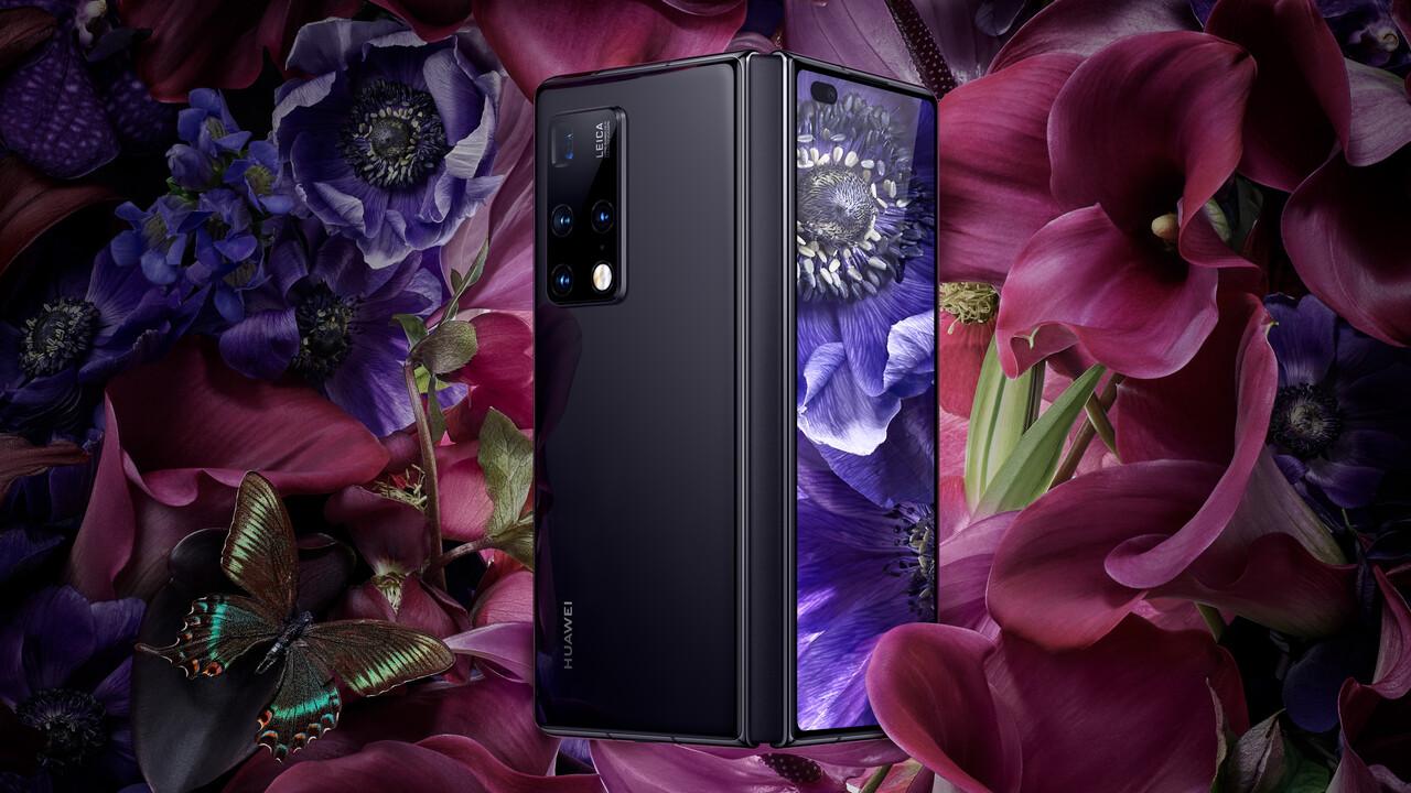 Huawei Mate X2: Falt-Smartphone ohne Lücke dank keilförmiger Hälften