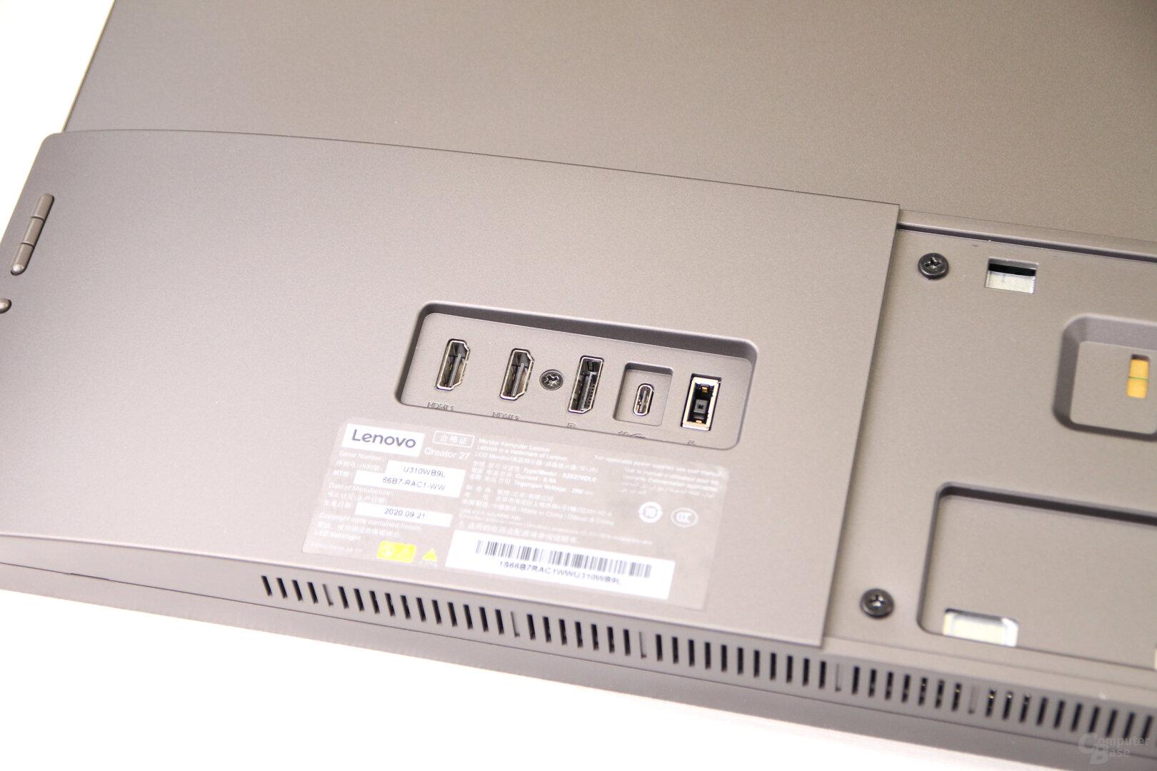 Lenovo Qreator 27: HDMI, DisplayPort und USB-C mit DisplayPort