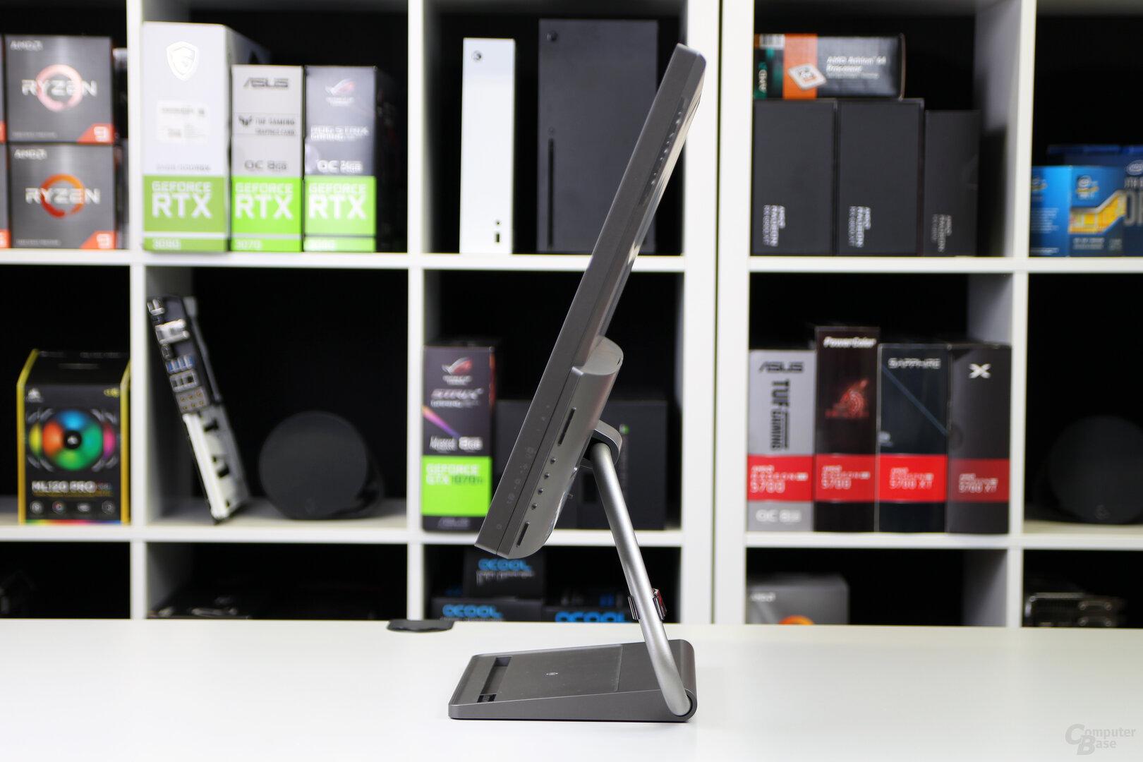 Lenovo Qreator 27: Neigen, mehr erlaubt der Standfuß nicht