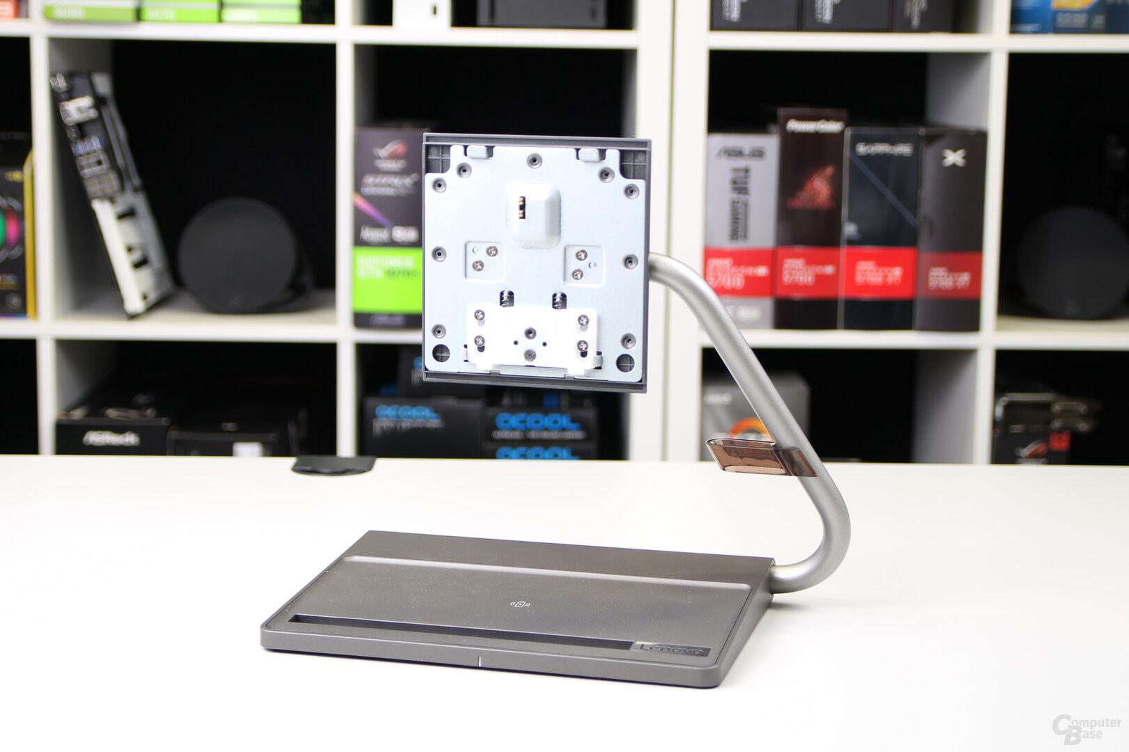 Lenovo Qreator 27: Asymmetrischer Standfuß ohne Ergonomie