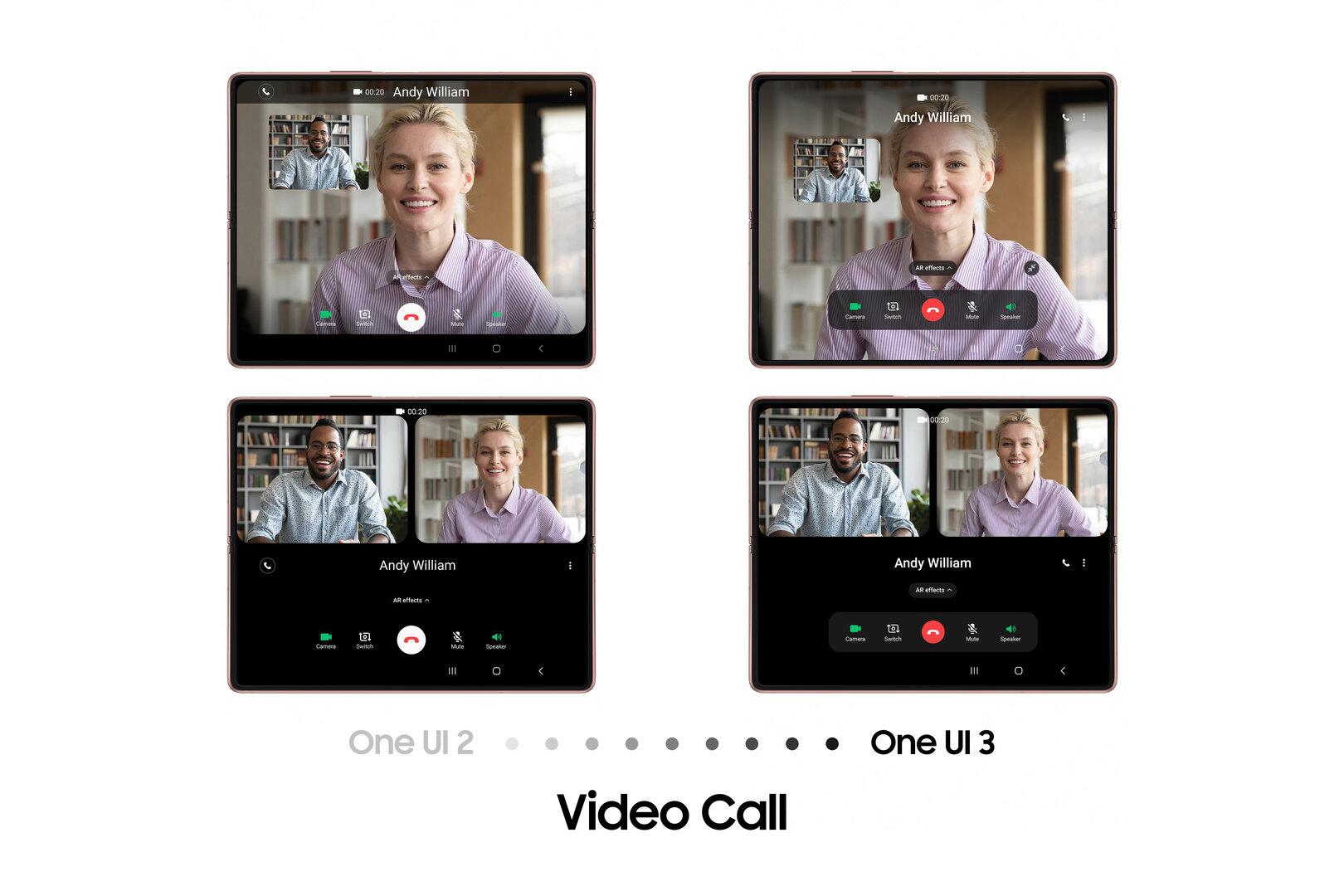 Videoanrufe füllen großen Bildschirm besser aus
