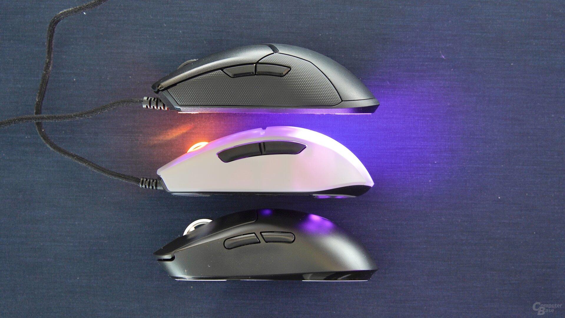 Logitech G Pro X Superlight, Roccat Burst Pro & Razer Viper 8KHz