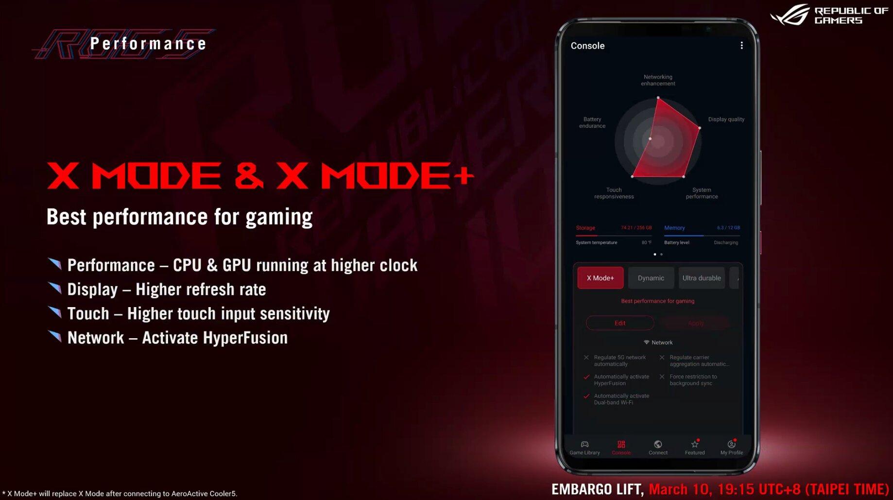 Asus ROG Phone 5: X-Mode(+) für Leistung