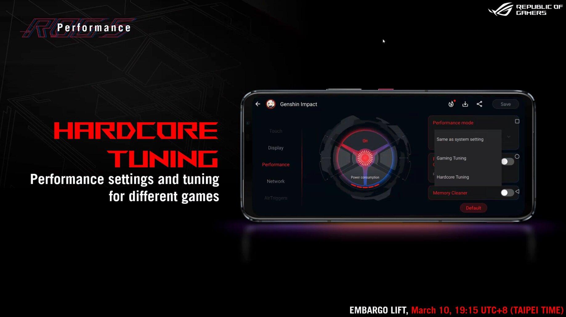 Asus ROG Phone 5: Einstellung können je Spiel verändert werden