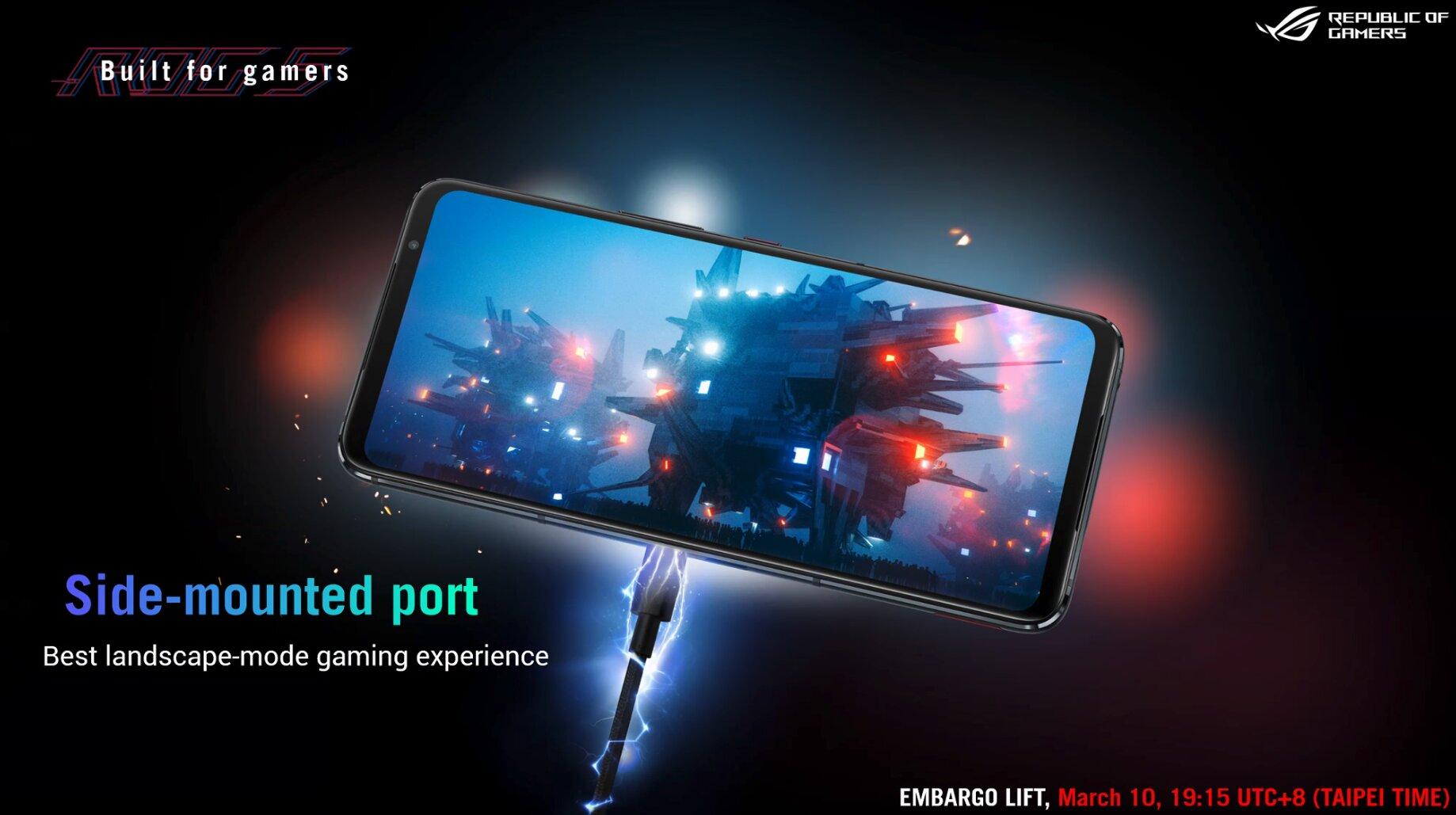 Asus ROG Phone 5: Seitlicher USB-Anschluss