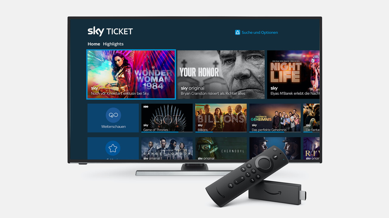 Streaming: Sky Ticket startet auf Amazon Fire TV