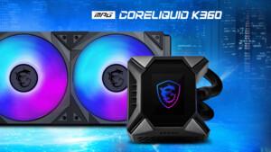 MSI MPG Coreliquid K-Serie: Premium-AiOs tragen Lüfter und Display über der Pumpe