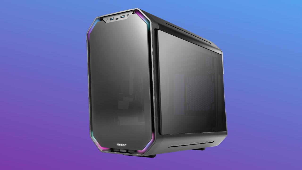 Antec Dark Cube: Im Micro-ATX-Format lässt sich das Chassis ausziehen