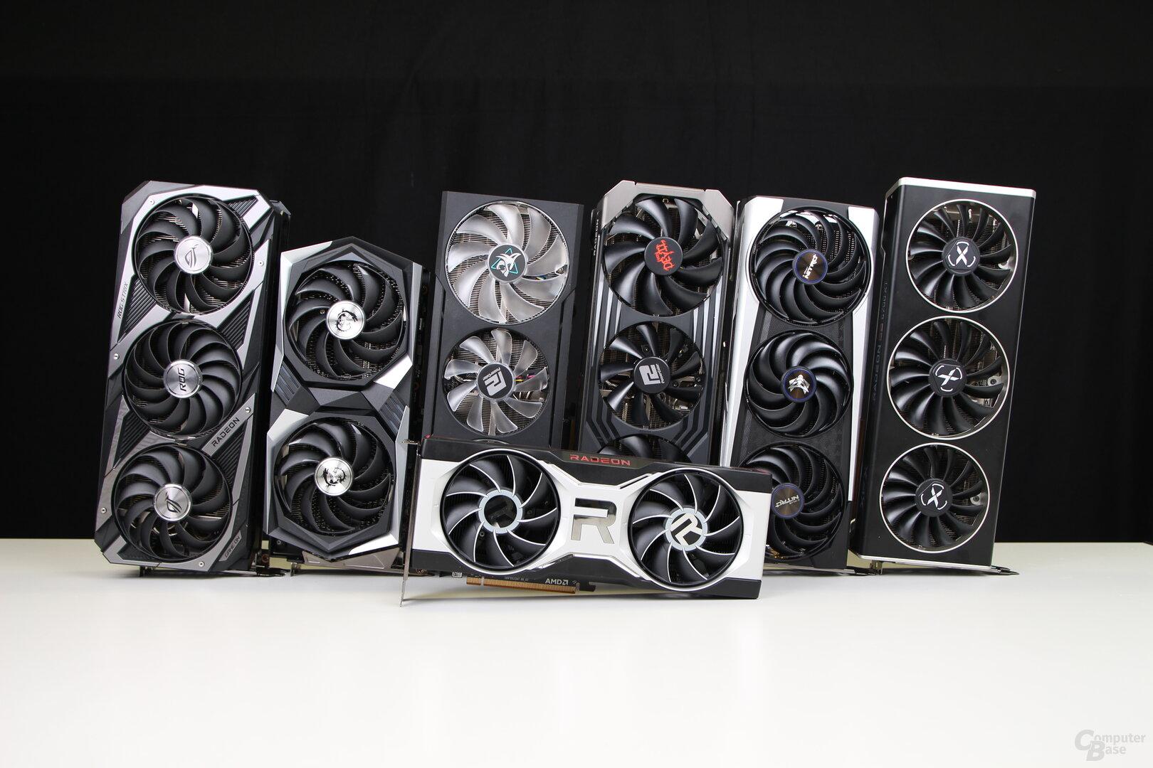 6 Custom-Modelle der Radeon RX 6700 XT in der Redaktion