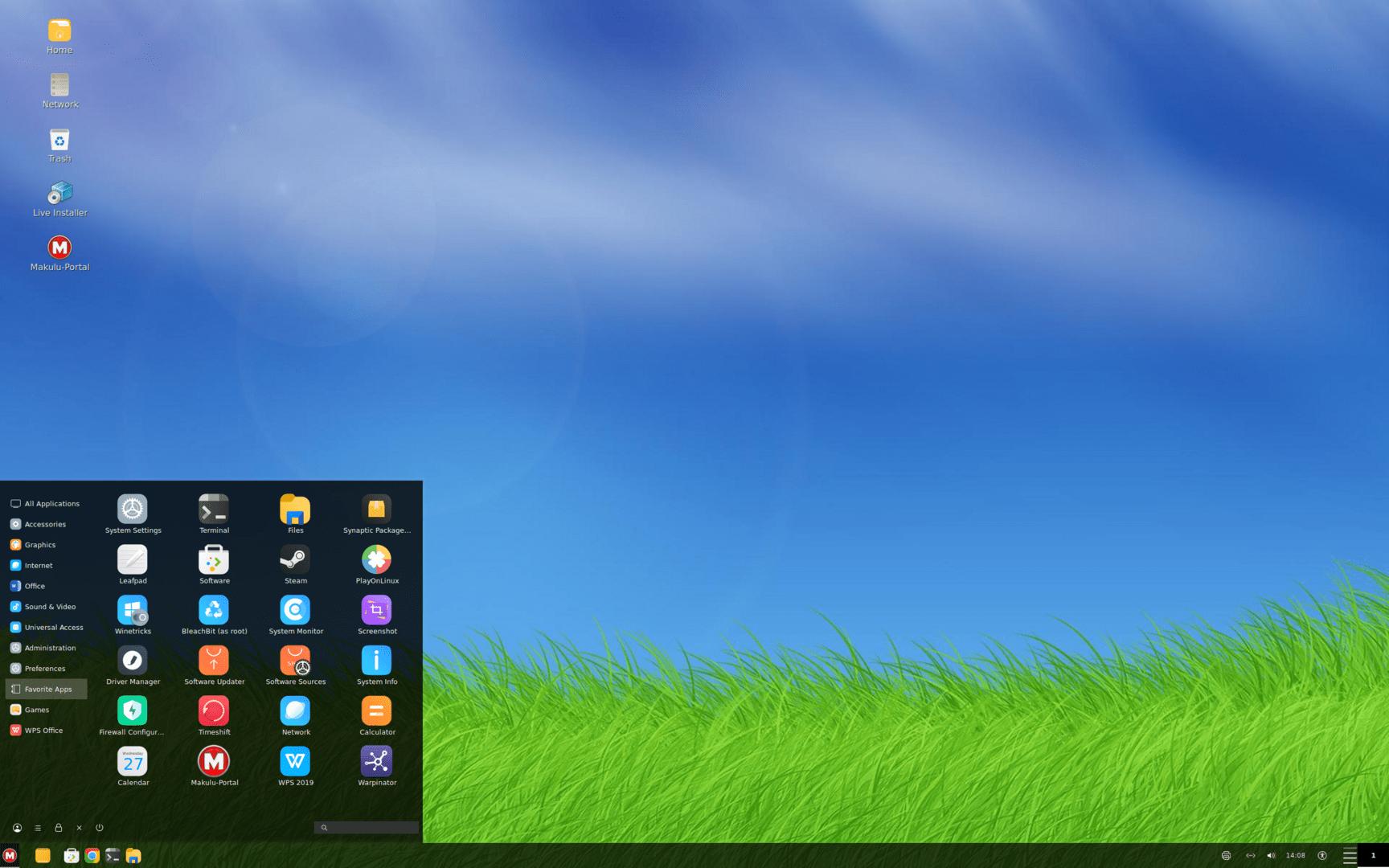 """MakuluLinux 2021-03-05 (""""LinDoz"""") mit Cinnamon 4.8.2"""