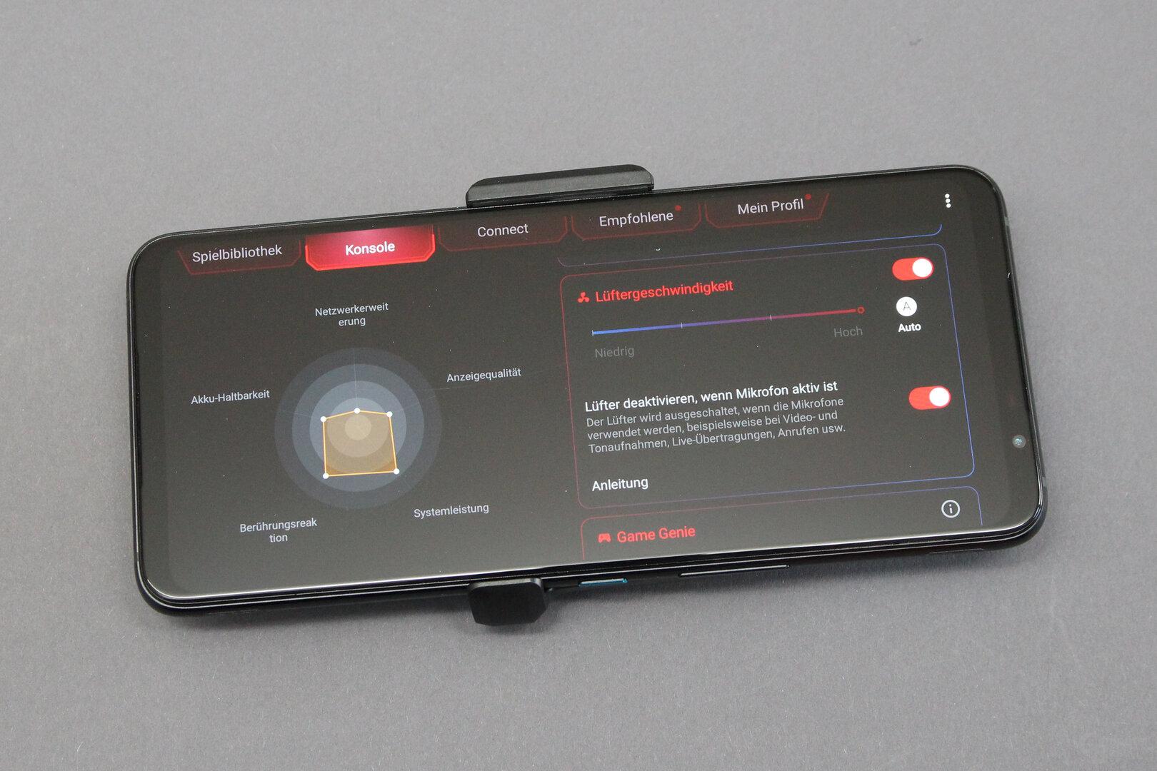 Asus ROG Phone 5: Leistungsprofile je nach Nutzung