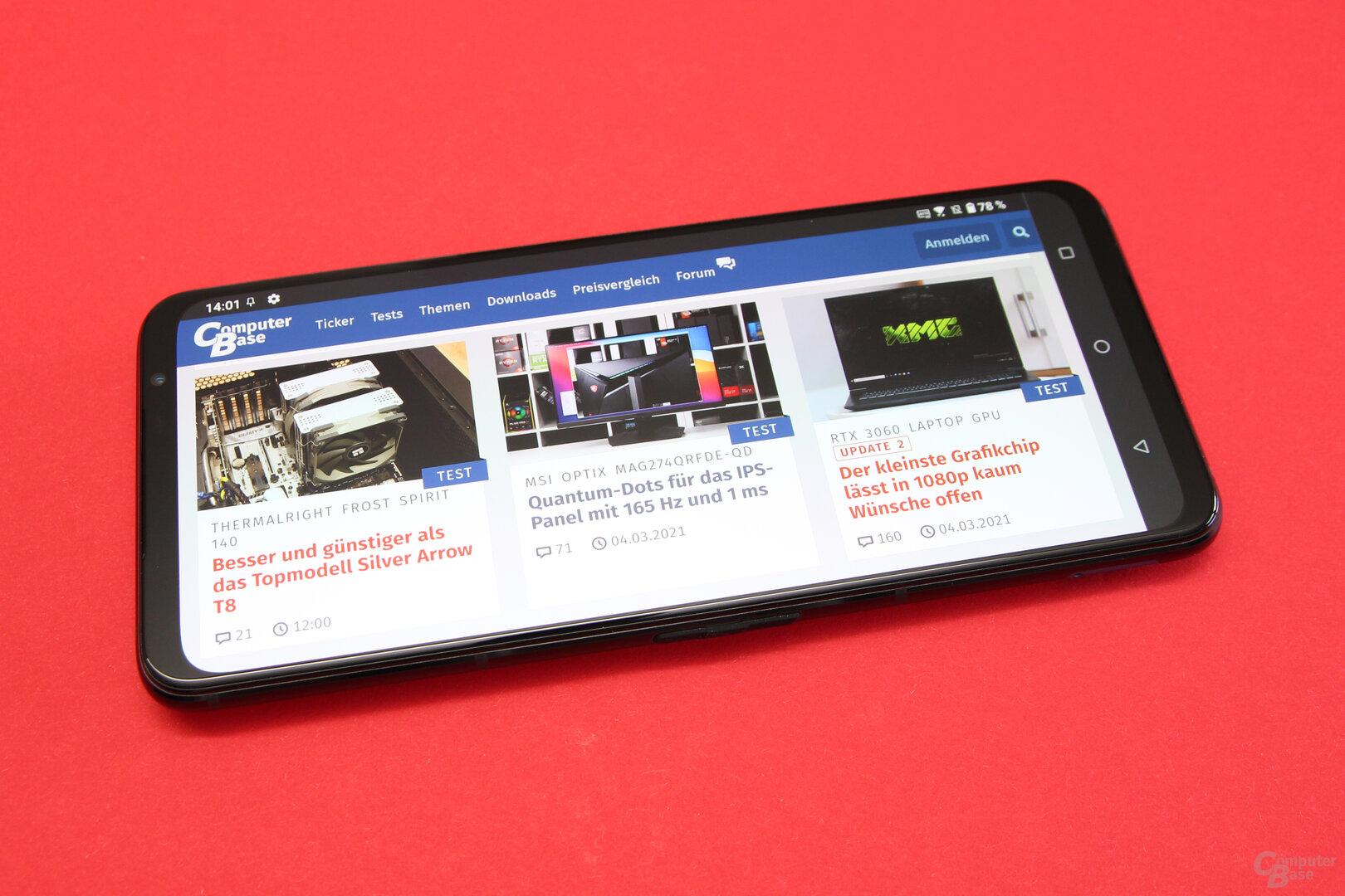 Asus ROG Phone 5: Scharfes Display mit bis zu 144 Hz