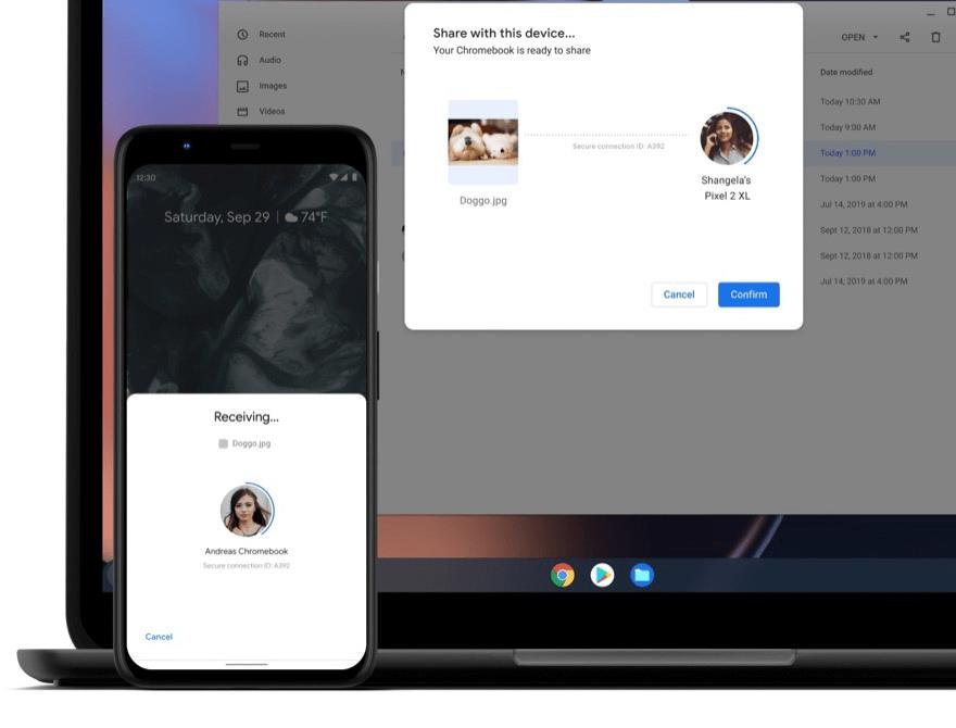 Google Nearby Share ermöglicht einen schnelleren Dateiaustausch