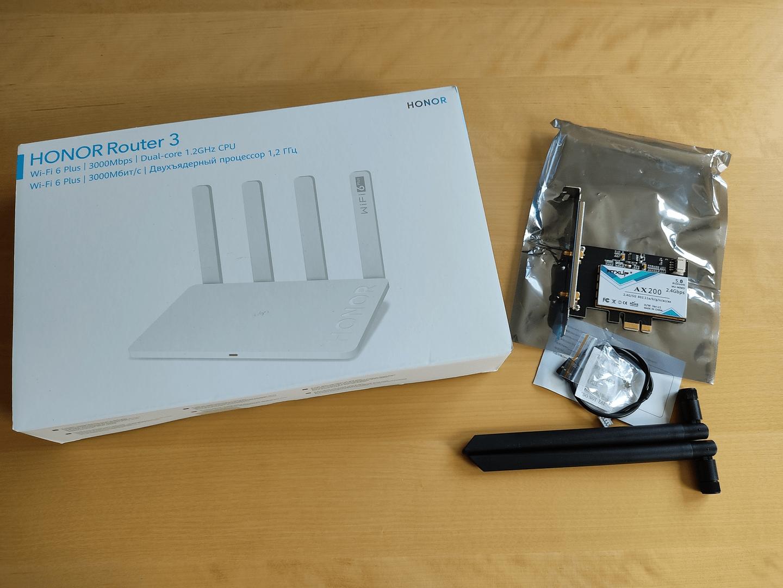 Honor Router 3 und Intel Wi-Fi 6 AX 200