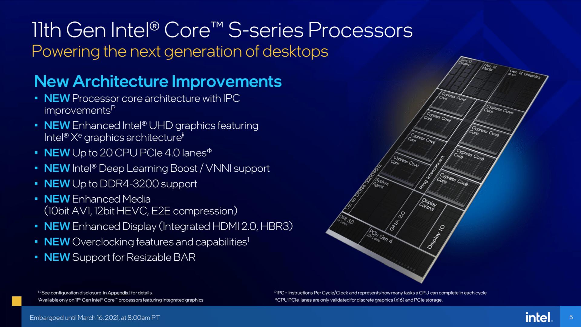 Intel Rocket Lake-S im Überblick