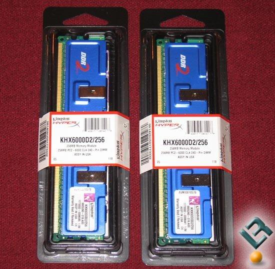 2x256 MB Kingston HyperX PC2-6000