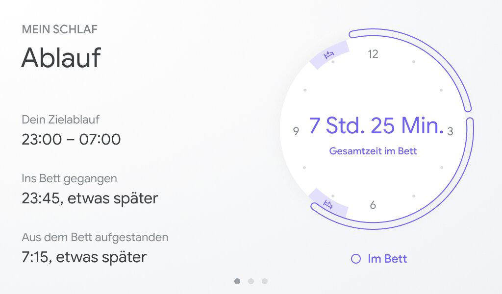 Benutzeroberfläche des Google Nest Hub (2. Gen.)