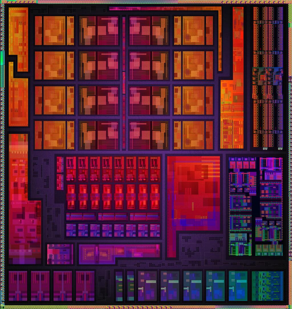 Die-Shot von AMD Cezanne