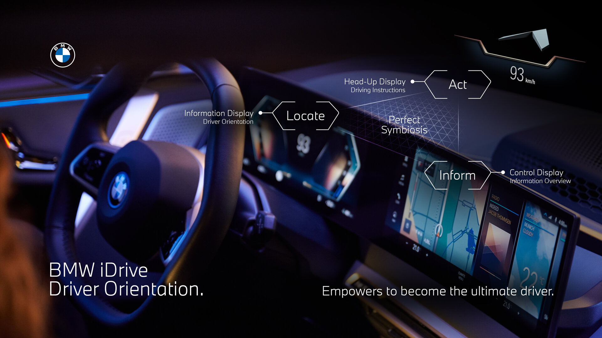 """BMW iDrive folgt """"Act, Locate and Inform"""""""